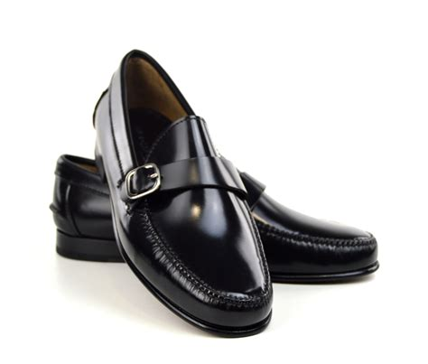 Buckle Loafers buckle loafers in black the squires mod shoes