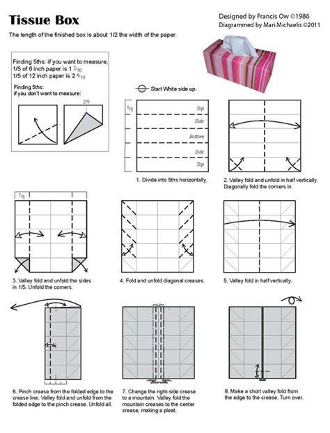 Origami Tissue Box - francis ow s origami diagrams tissue box