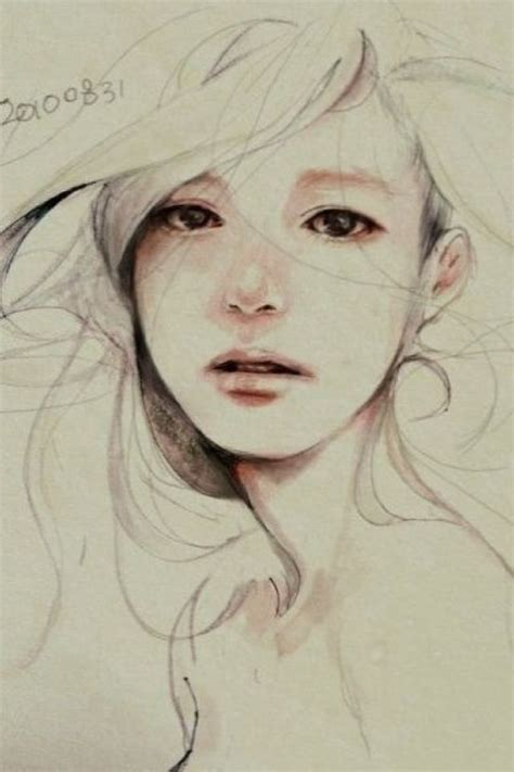 Pretty Girl Face Drawing | sad girl art sketch sad pinterest sad sketches