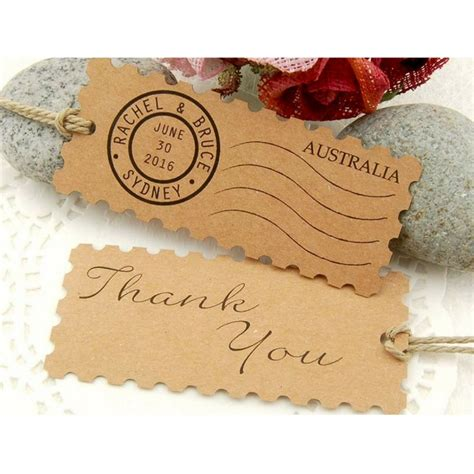 Wedding Gift Malaysia by Personalized Kraft Postage St Wedding Favor Gift Tags