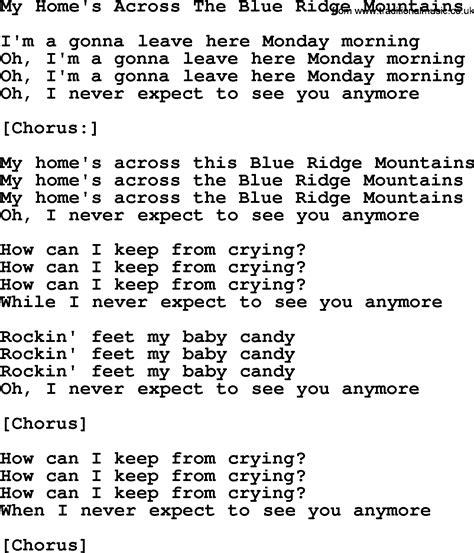 joan baez song my home s across the blue ridge mountains