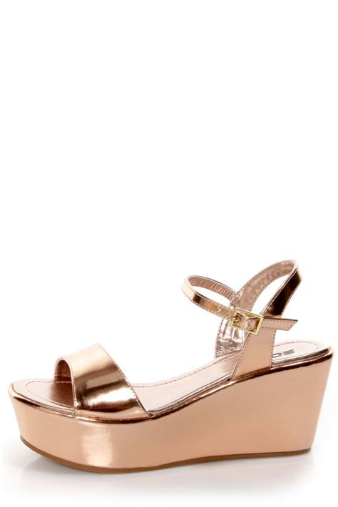 metallic flatform sandals soda jozy metallic flatform wedge sandals 23 00