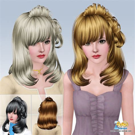 haircuts zone haircut with bangs 610 by peggy zone sims 3 hairs
