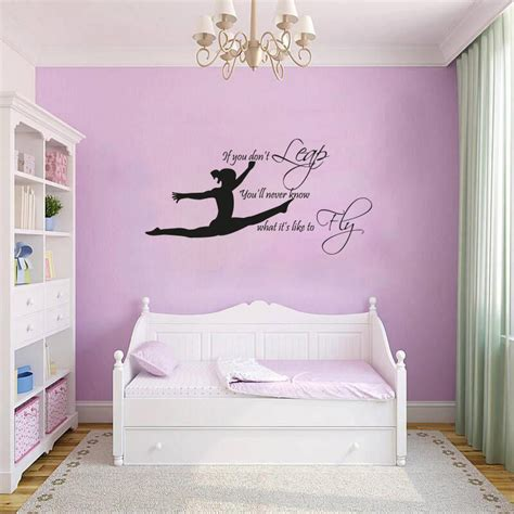 gymnast gymnasticgirls bedroom quote vinyl wall art sticker decal mural ebay