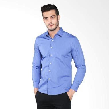 Sleeve Baju Polo Pria Lengan Panjang Oakley jual vm polos slimfit panjang formal sleeves kemeja pria biru harga kualitas