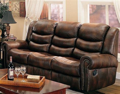nailhead reclining sofa nailhead reclining sofa furniture of america norfolk