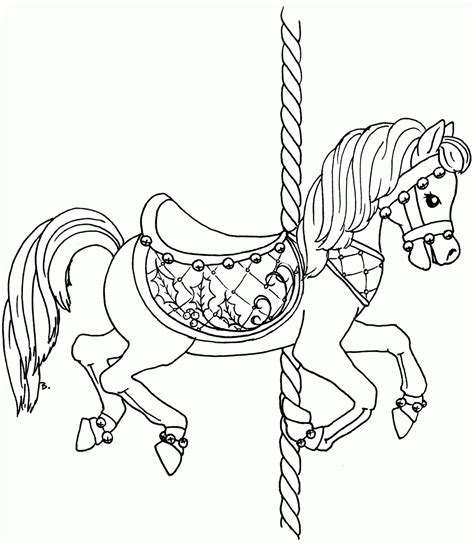 coloring pages of carousel horses carousel horse coloring pages to print coloring home