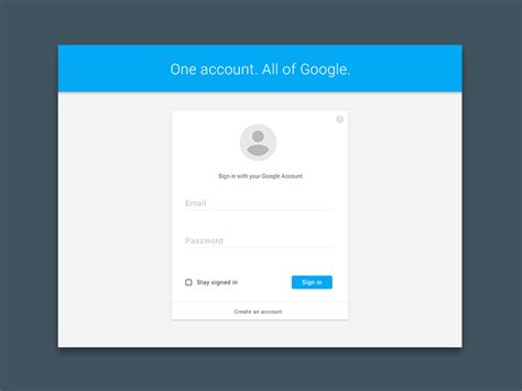 Design Google Sign | google account sign in materialup