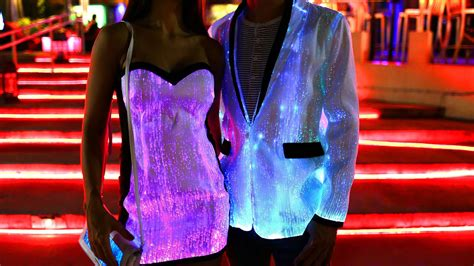 led lights for clothing light up jacket unique light up fiber optic clothing