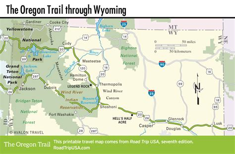 map of oregon trail in wyoming wyoming road trip usa