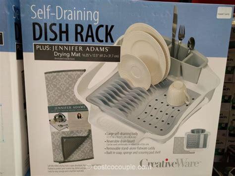 Dish Rack Costco by Creative Ware Self Draining Dish Rack