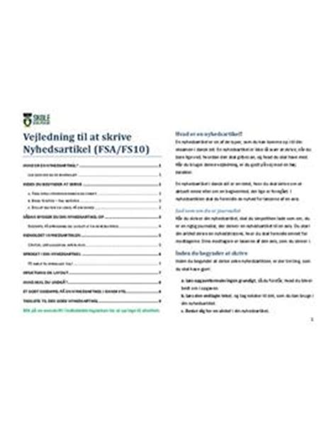 artikel layout eksempel eksempel p 229 nyhedsartikel skolehj 230 lpen dk