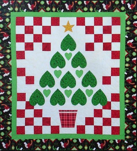 free printable christmas quilt patterns a heartfelt by barbara weiland quilting pattern