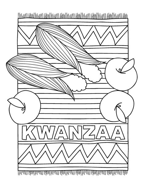 Free Coloring Pages Kwanzaa Coloring Pages