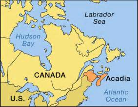 acadia canada map acadia location encyclopedia children s