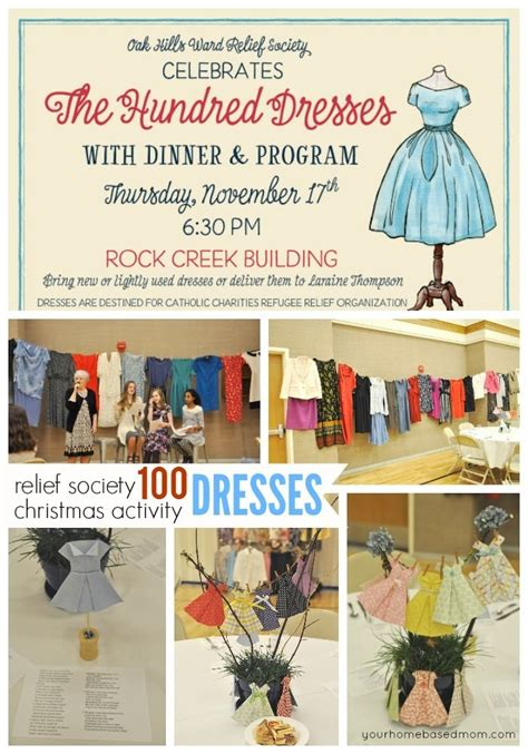 relief society lesson ideas christmas the one hundred dresses relief society activity