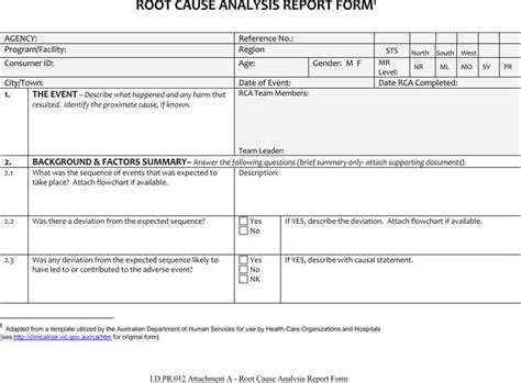 Rca Report Template