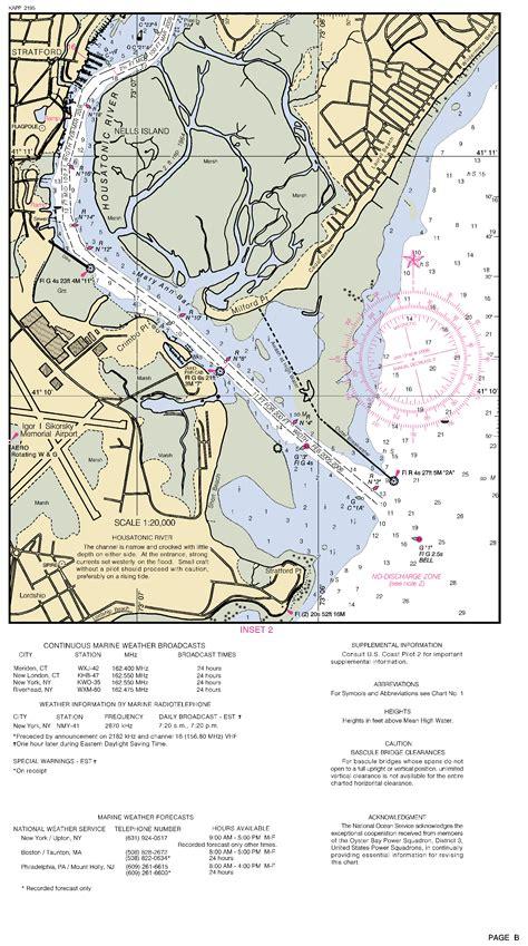housatonic river map housatonic river inset 2 nautical chart νοαα charts maps