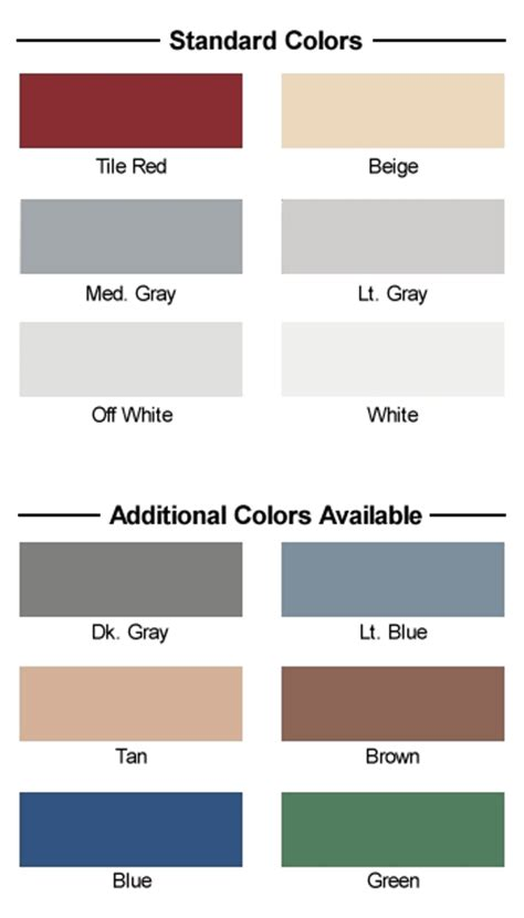 floor epoxy coatings color chart u s industrial coatings inc