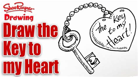 how to draw valentines stuff how to draw the key to your for s day