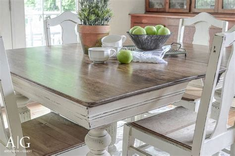 chalk paint kitchen table diy 15 stunning diy dining table makeovers window