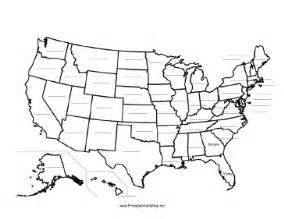 fill blank map united states