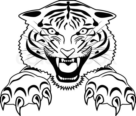 tiger tattoo vector colourbox
