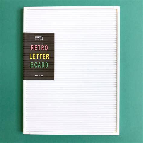 Letter Board letter board omm design