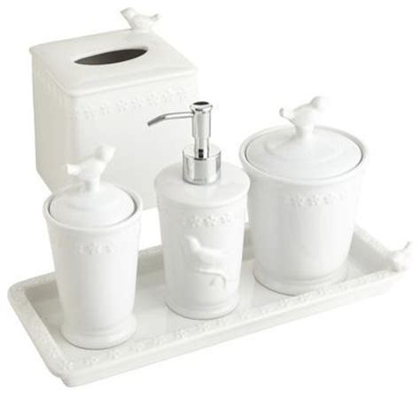 stoneware bathroom accessories white bird stoneware bath accessories contemporary