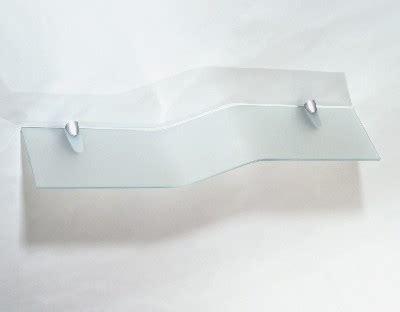 mensola curva mensola in cristallo mensola curva satinata mensola in