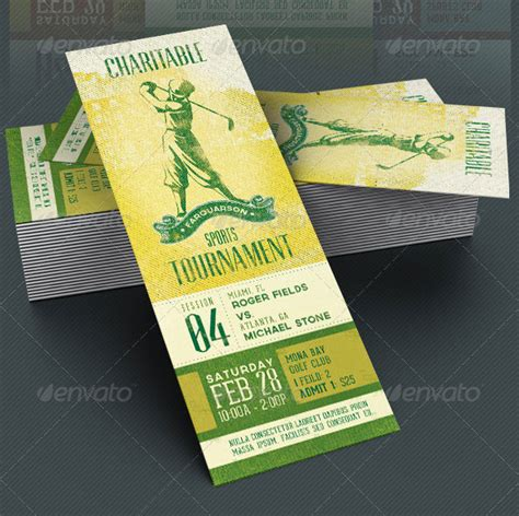 25 awesome ticket invitation design templates web