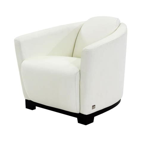 White Leather Accent Chair by Fellini White Leather Accent Chair El Dorado Furniture
