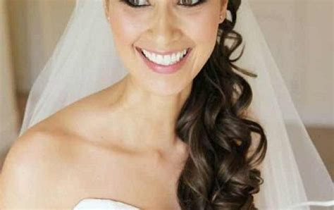 Wedding Hairstyles With Bangs And Veil by Curly Half Up Wedding Hairstyles With Side Bangs And