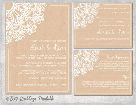 free enclosure card template rustic save the date templates quot lace doily kraft quot save the