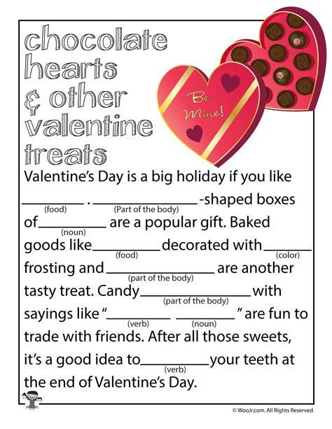 free valentines mad lib activity valentines mad libs contemporary gift