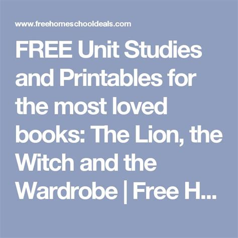 The The Witch And The Wardrobe Unit Study by 25 Best Ideas About Witch And Wardrobe On
