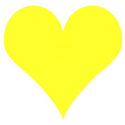 large sized yellow heart