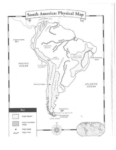 south america physical features map blank south america physical map