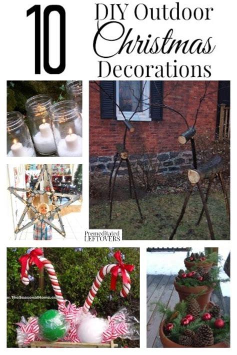 diy outdoor christmas decorations 10 diy outdoor christmas decorations