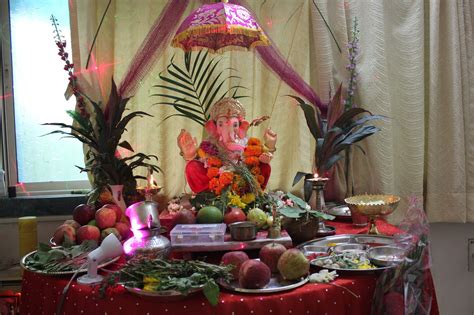home decoration of ganesh festival ganesh lovely telugu