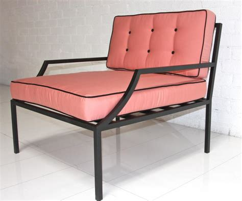 pink patio furniture www roomservicestore oversized outdoor chair in pink with black piping