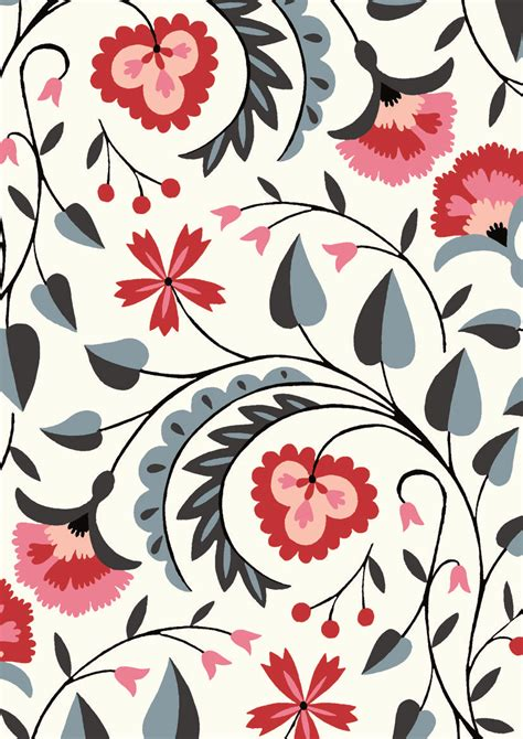 pattern background print pattern by minakani minakani folkflower pattern