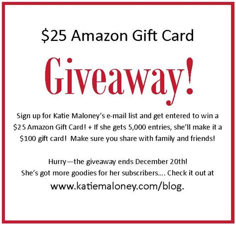 How To Sign Up For Amazon Giveaways - katie maloney blog