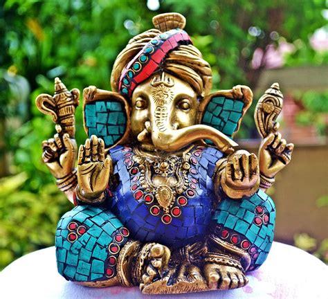 Animal Statues Home Decor Large Ganesha Statue Hindu God Coral Sculpture Divine
