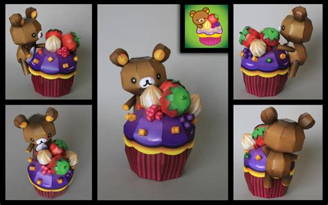 Papercraft Cupcake - rilakkuma happy cupcake pcraft by ikarusmedia on deviantart