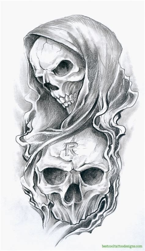 tattoo flash art for men skull designs