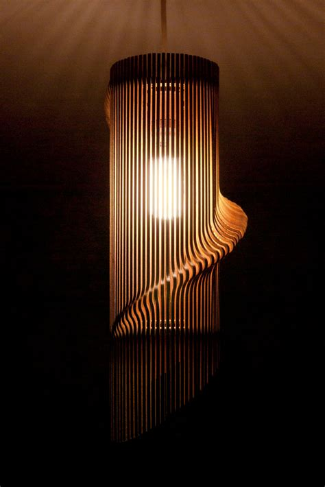 twisted lasercut wooden lshade no 1