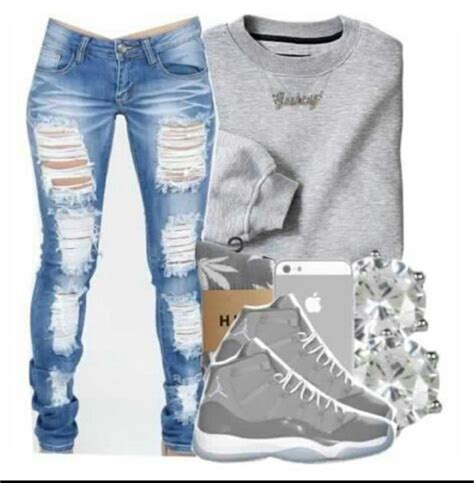 Girl With Swag And Jordans Outfit   girl swag outfits with jordans www pixshark com images