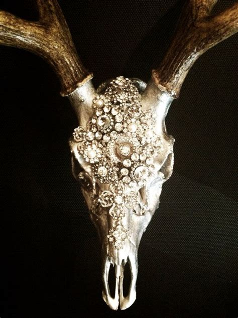 Decorated Deer Skull by Embellished Deer Skull By Molliepdesigns On Etsy I Could