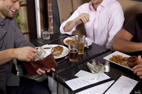 pay at table restaurant dining etiquette from around the huffpost